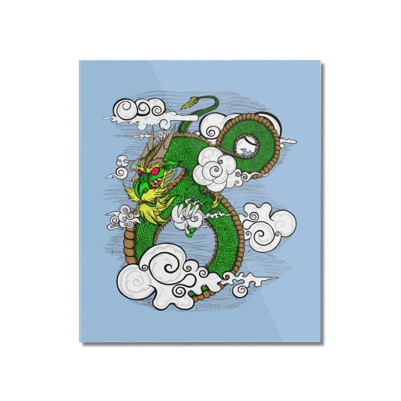 Dragon Daze Home Mounted Acrylic Print by THEWAYOFPK