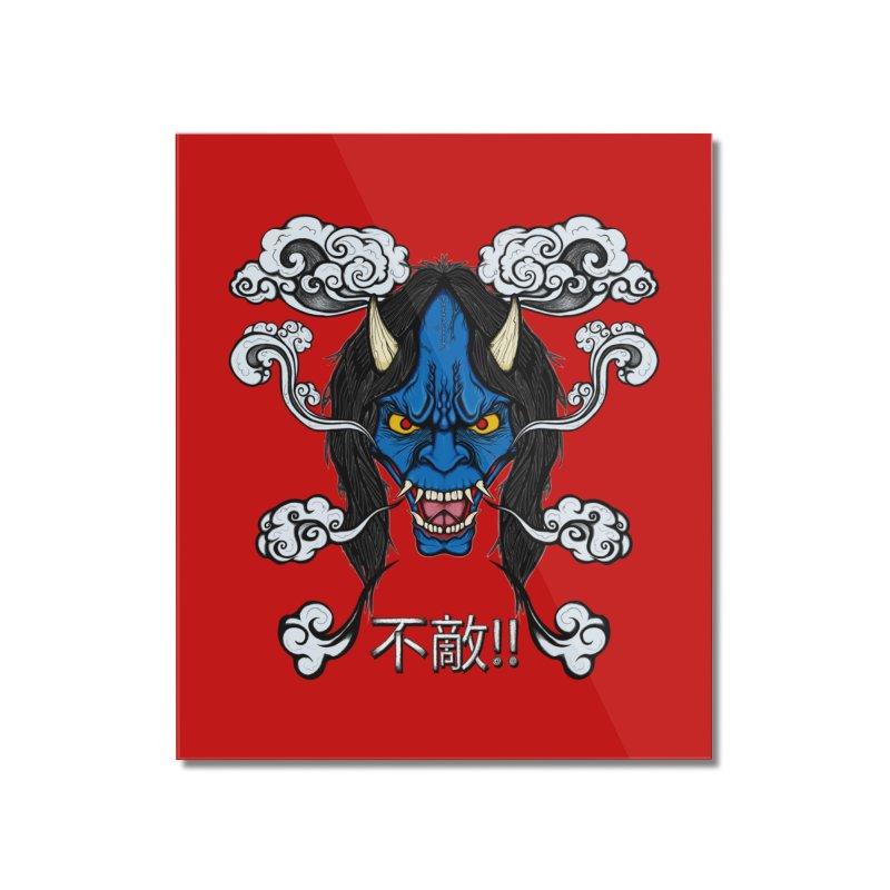 Futeki (Fearless) Home Mounted Acrylic Print by THEWAYOFPK