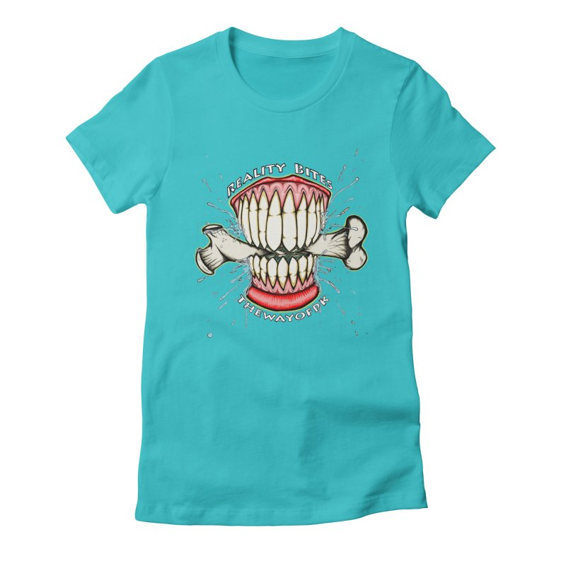 Reality Bites Women's Fitted T-Shirt by THEWAYOFPK