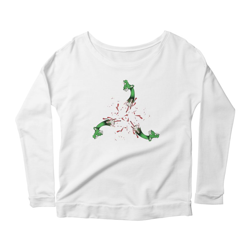 Violence Comes Around/ Circle of Violence Series  01 Women's Longsleeve Scoopneck  by thewayofpk - wear 2 scare