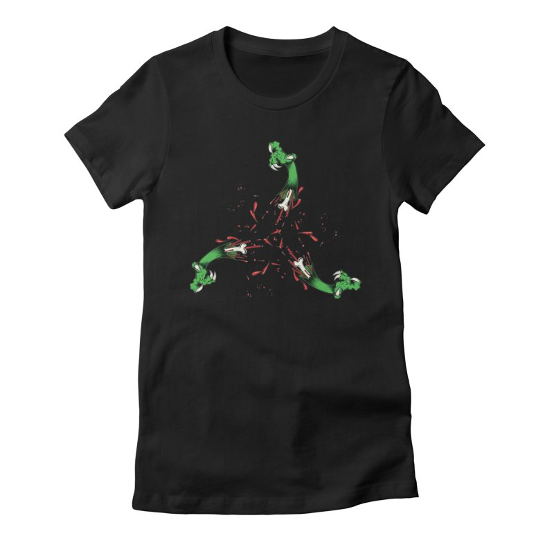 Violence Comes Around/ Circle of Violence Series  01 Women's Fitted T-Shirt by thewayofpk - wear 2 scare
