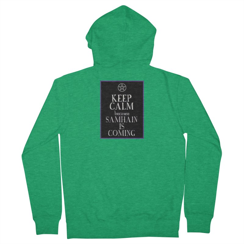 KeepCalmSamhain Men's French Terry Zip-Up Hoody by The Ways of The Old's Artist Shop