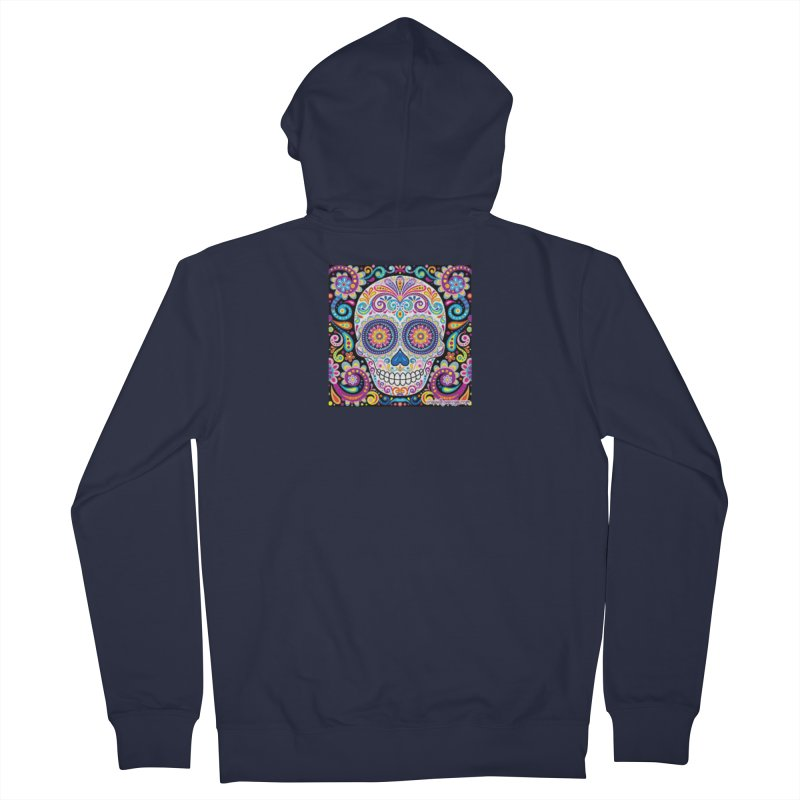 CandySkull Men's French Terry Zip-Up Hoody by The Ways of The Old's Artist Shop