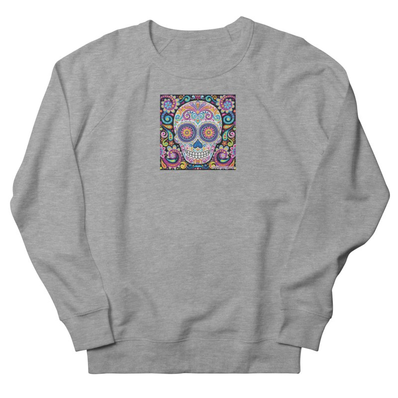 CandySkull Men's French Terry Sweatshirt by The Ways of The Old's Artist Shop
