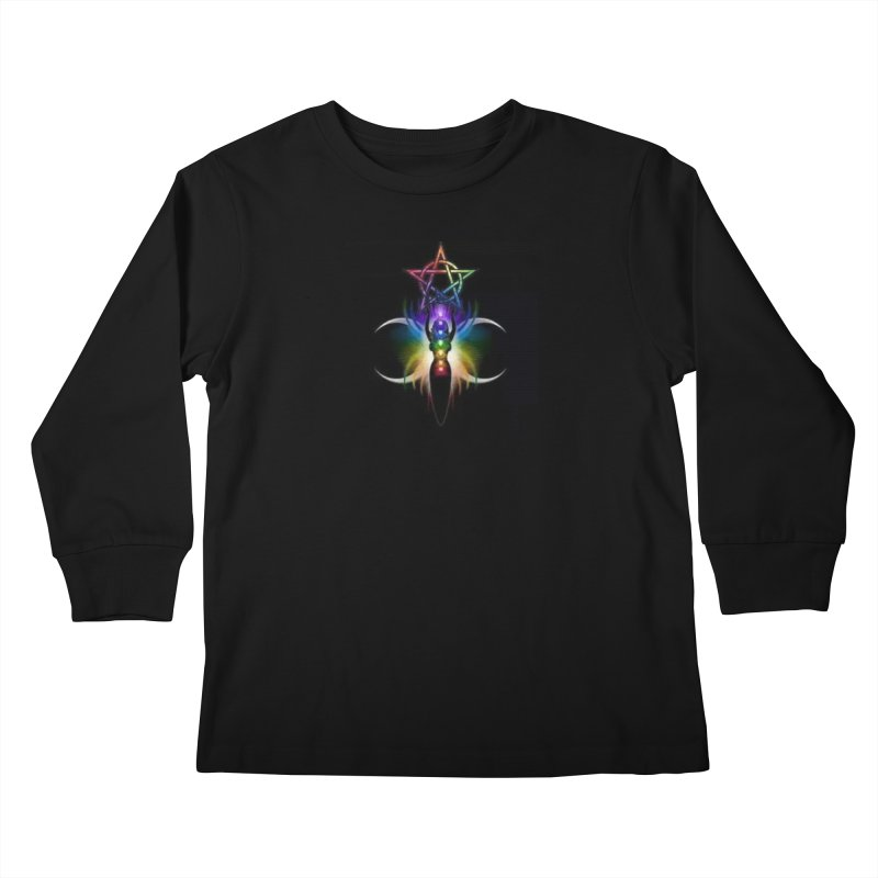 GoddessMoon Kids Longsleeve T-Shirt by The Ways of The Old's Artist Shop