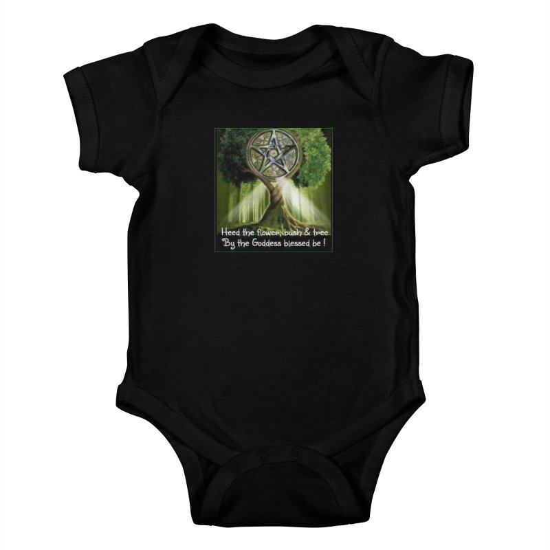GoddessBlessedBe Kids Baby Bodysuit by The Ways of The Old's Artist Shop