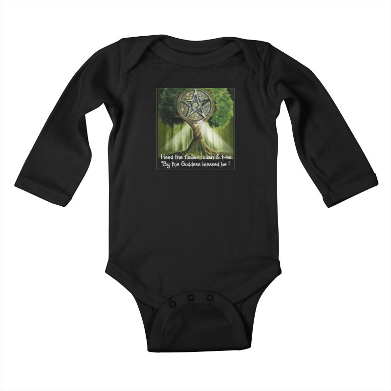 GoddessBlessedBe Kids Baby Longsleeve Bodysuit by The Ways of The Old's Artist Shop