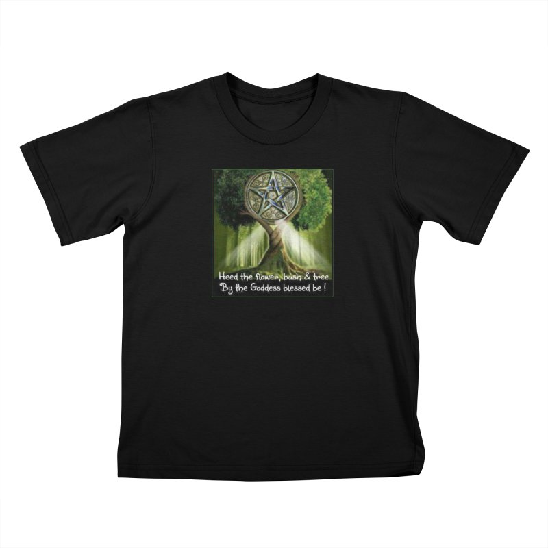 GoddessBlessedBe Kids T-Shirt by The Ways of The Old's Artist Shop