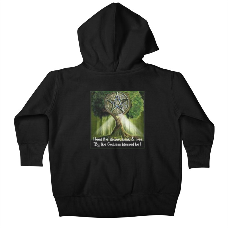 GoddessBlessedBe Kids Baby Zip-Up Hoody by The Ways of The Old's Artist Shop