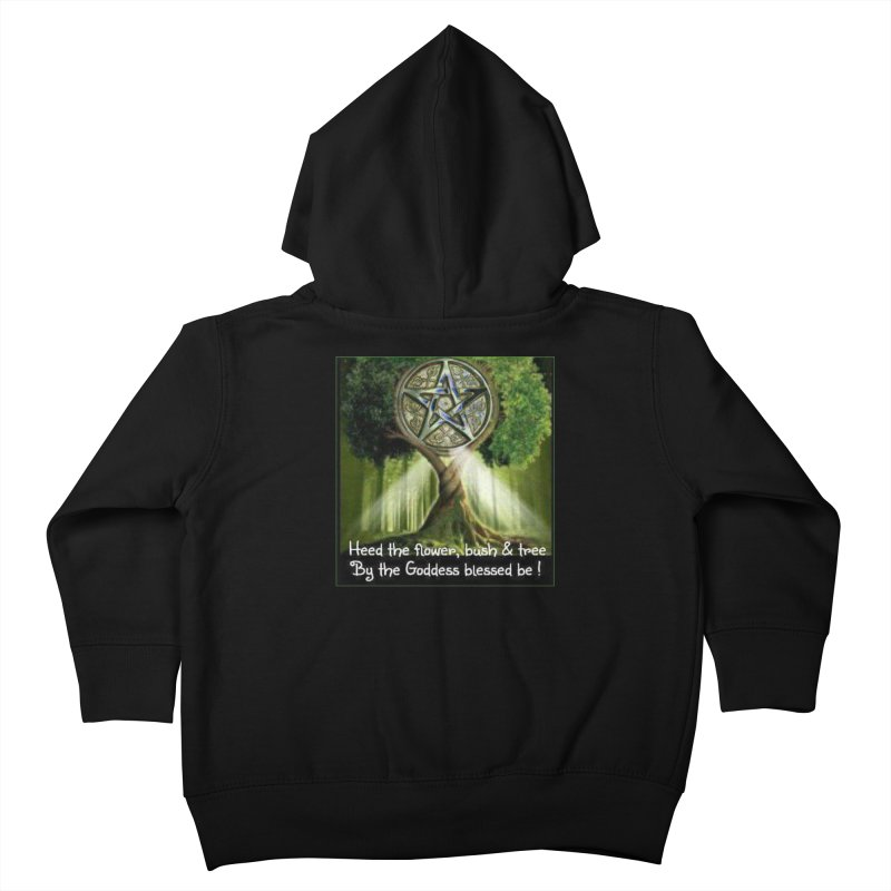 GoddessBlessedBe Kids Toddler Zip-Up Hoody by The Ways of The Old's Artist Shop