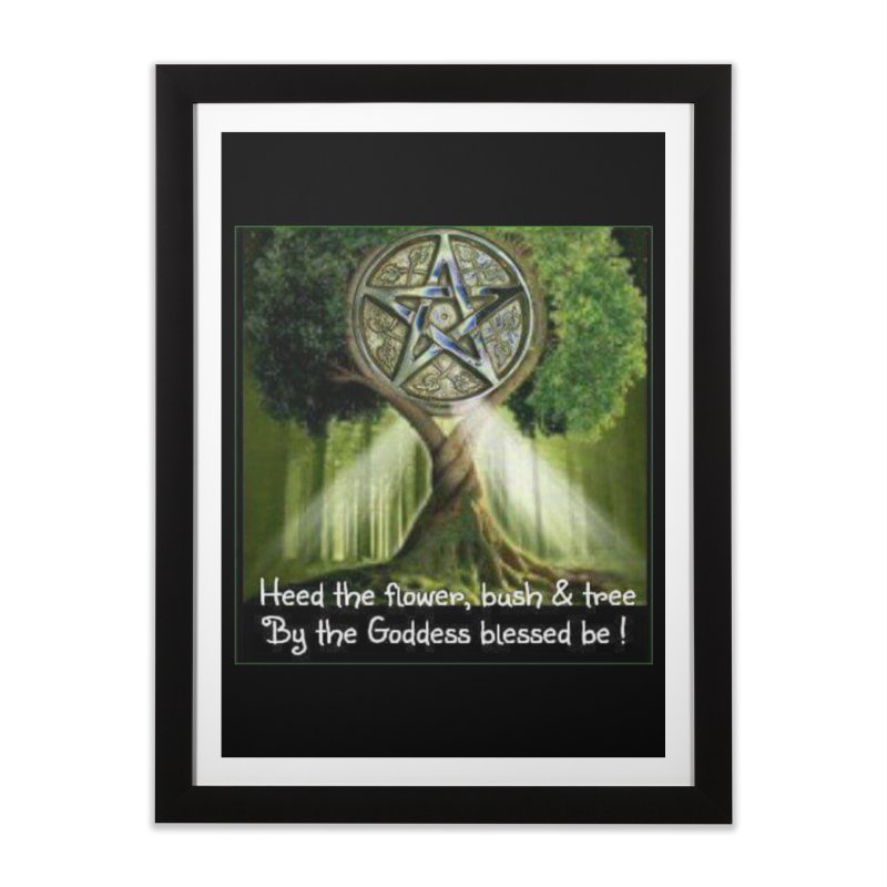 GoddessBlessedBe Home Framed Fine Art Print by The Ways of The Old's Artist Shop