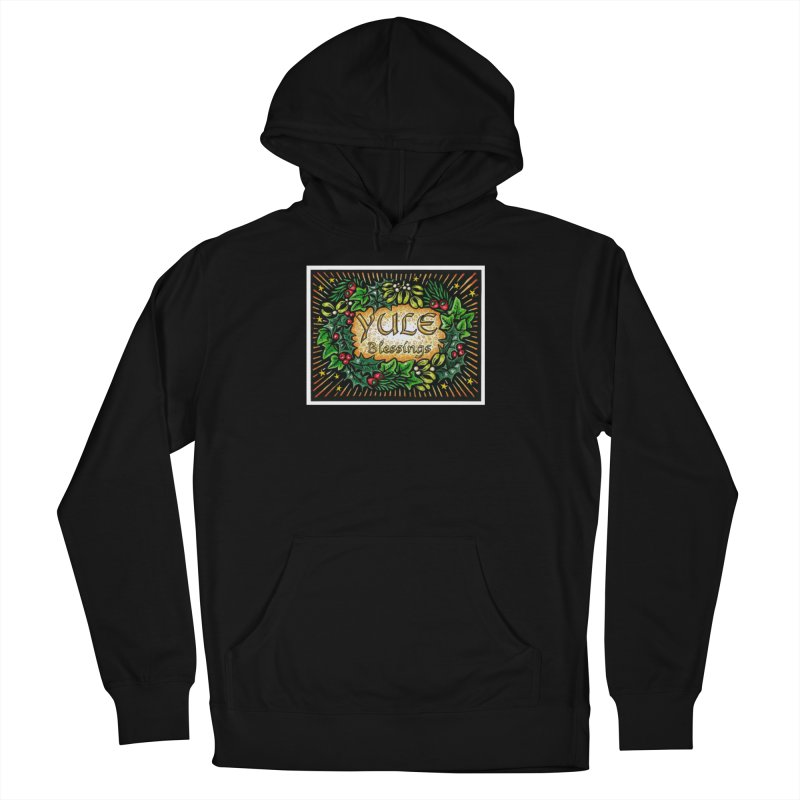 YuleBlessings Men's French Terry Pullover Hoody by The Ways of The Old's Artist Shop