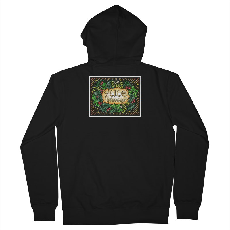 YuleBlessings Men's French Terry Zip-Up Hoody by The Ways of The Old's Artist Shop