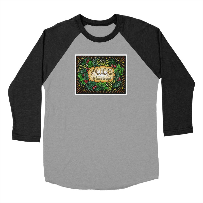 YuleBlessings Women's Baseball Triblend Longsleeve T-Shirt by The Ways of The Old's Artist Shop