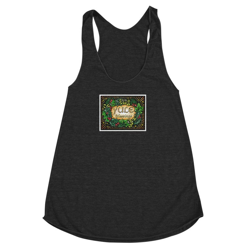 YuleBlessings Women's Racerback Triblend Tank by The Ways of The Old's Artist Shop
