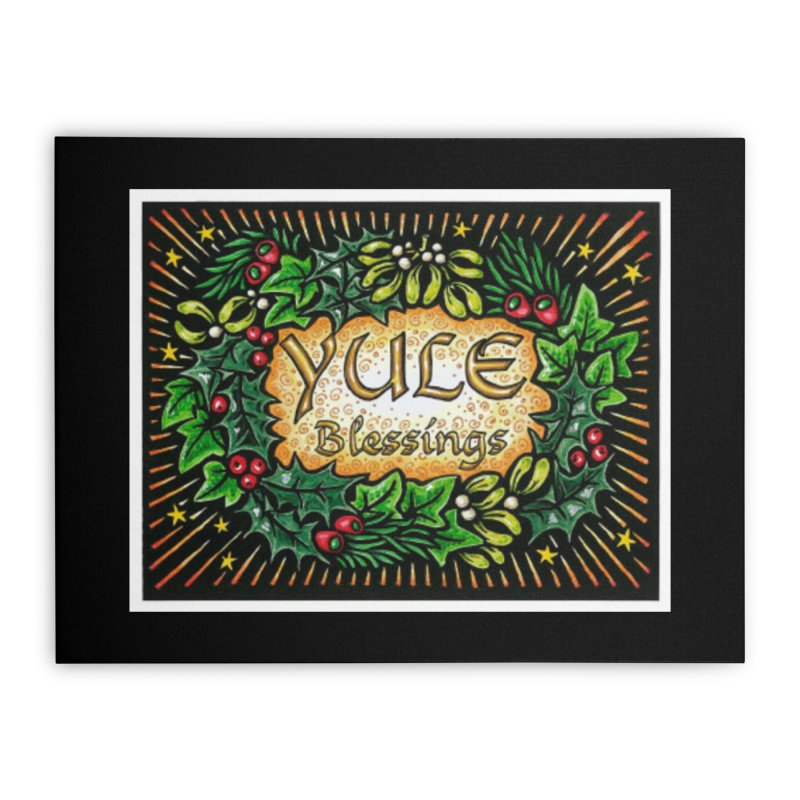YuleBlessings Home Stretched Canvas by The Ways of The Old's Artist Shop