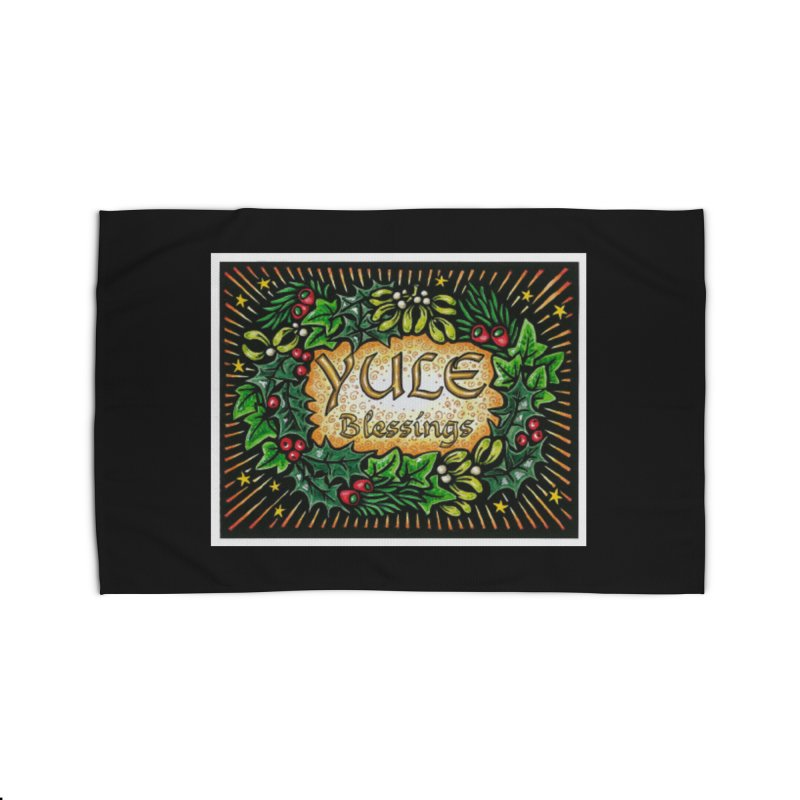 YuleBlessings Home Rug by The Ways of The Old's Artist Shop