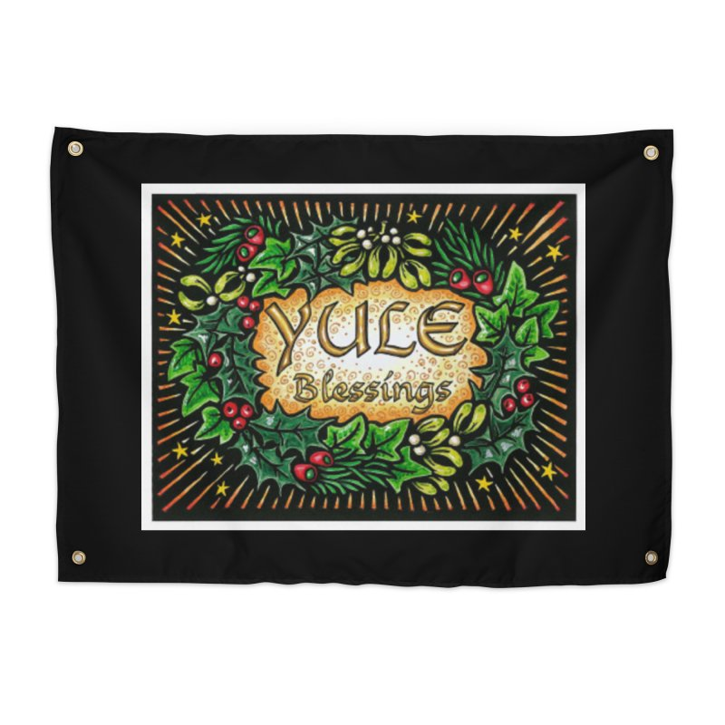 YuleBlessings Home Tapestry by The Ways of The Old's Artist Shop
