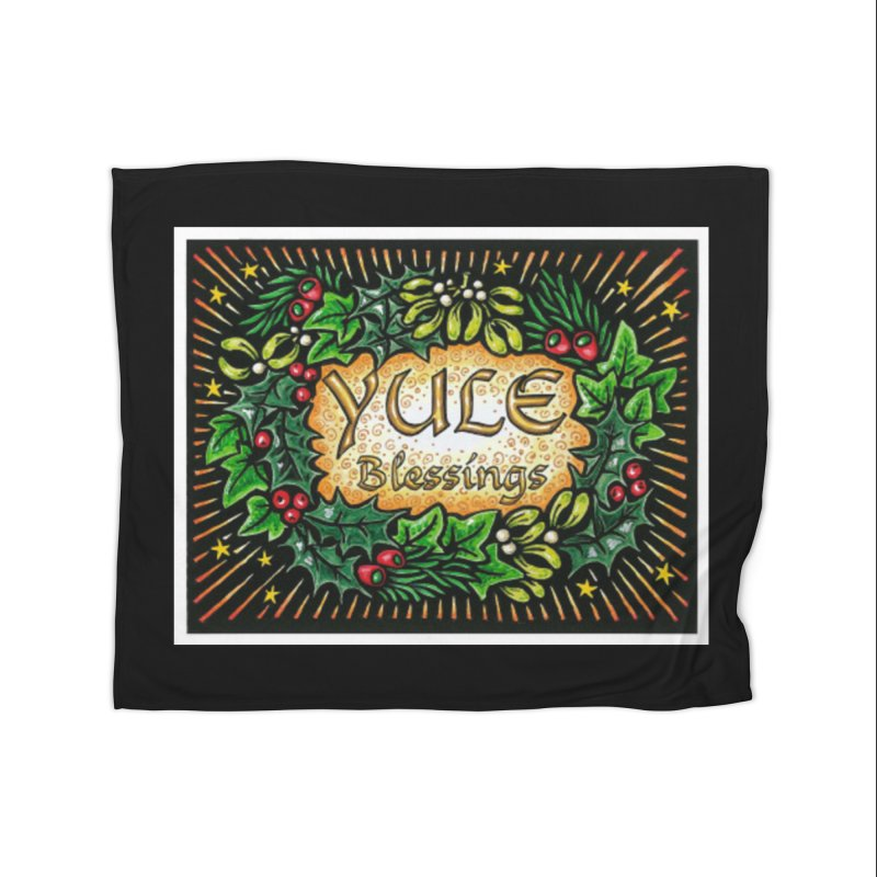 YuleBlessings Home Fleece Blanket Blanket by The Ways of The Old's Artist Shop