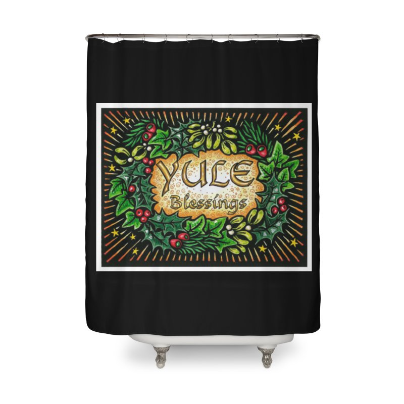 YuleBlessings Home Shower Curtain by The Ways of The Old's Artist Shop