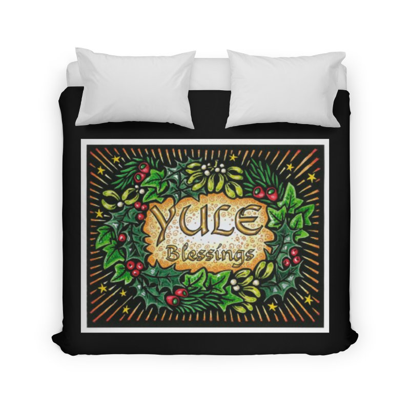 YuleBlessings Home Duvet by The Ways of The Old's Artist Shop