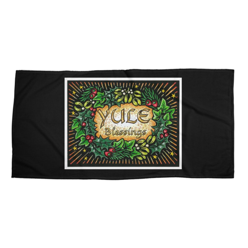 YuleBlessings Accessories Beach Towel by The Ways of The Old's Artist Shop