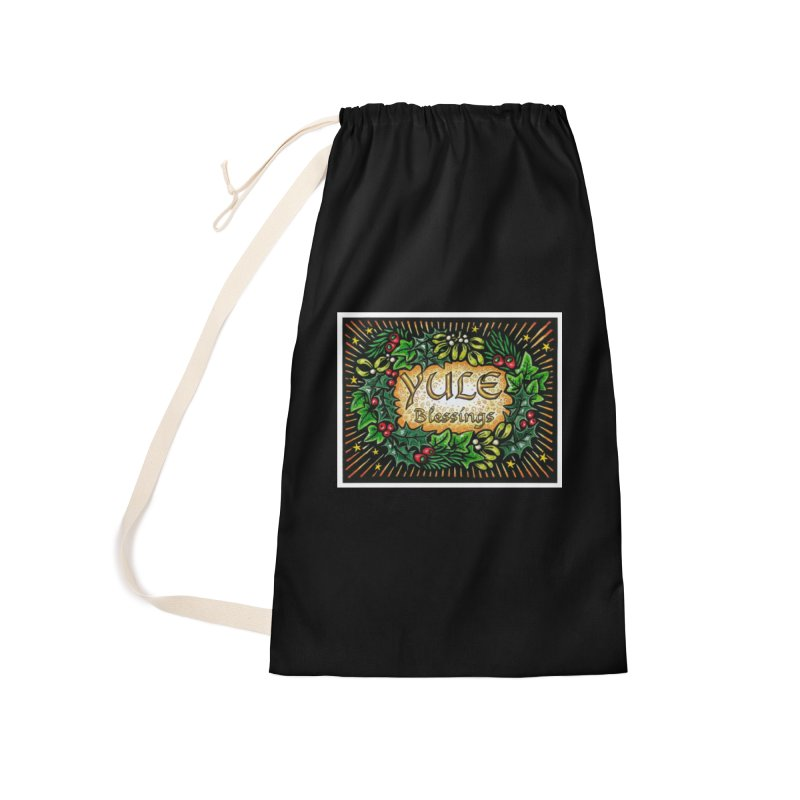 YuleBlessings Accessories Laundry Bag Bag by The Ways of The Old's Artist Shop