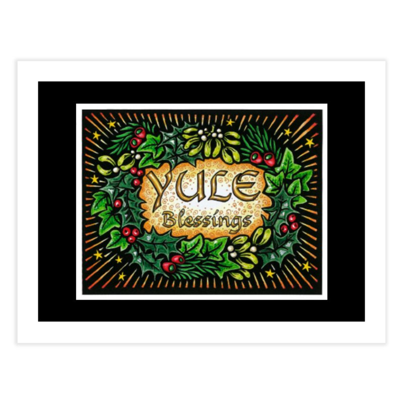 YuleBlessings Home Fine Art Print by The Ways of The Old's Artist Shop