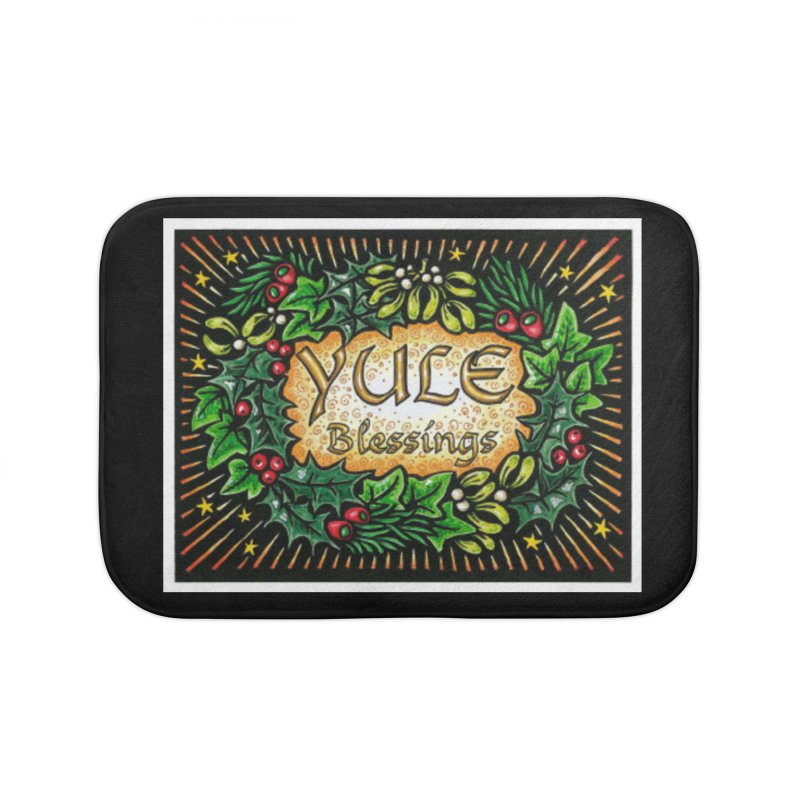 YuleBlessings Home Bath Mat by The Ways of The Old's Artist Shop