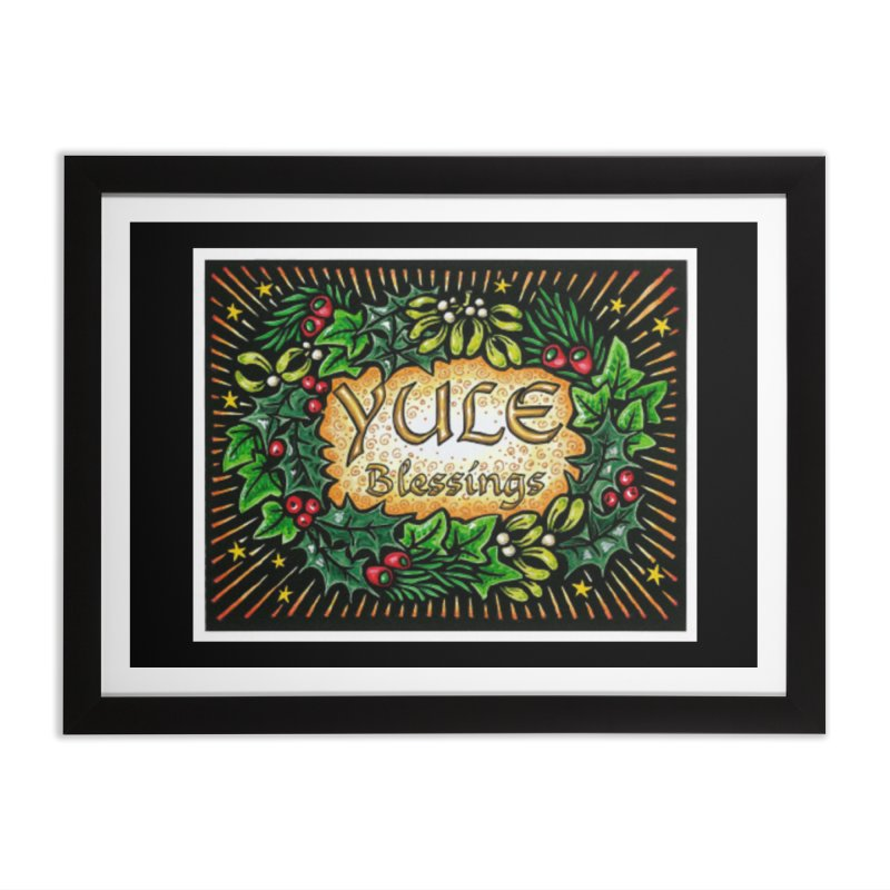 YuleBlessings Home Framed Fine Art Print by The Ways of The Old's Artist Shop