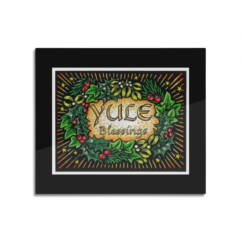 YuleBlessings Home Mounted Aluminum Print by The Ways of The Old's Artist Shop