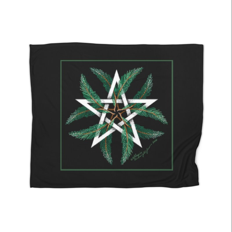 YuleQuarters Home Fleece Blanket Blanket by The Ways of The Old's Artist Shop