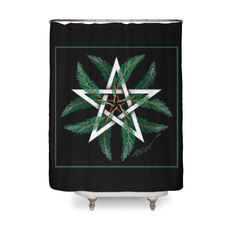 YuleQuarters Home Shower Curtain by The Ways of The Old's Artist Shop