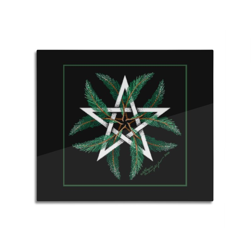 YuleQuarters Home Mounted Aluminum Print by The Ways of The Old's Artist Shop