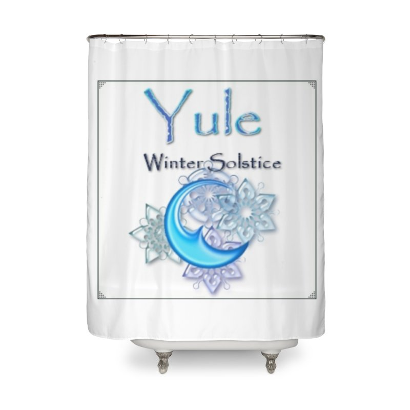 YuleSolstice Home Shower Curtain by The Ways of The Old's Artist Shop