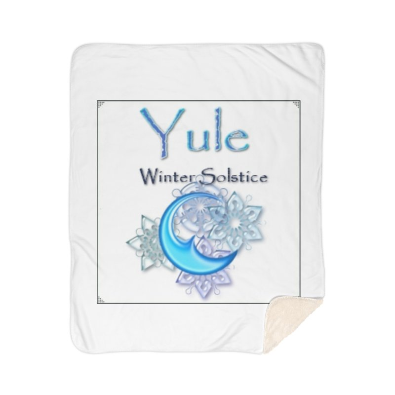 YuleSolstice Home Sherpa Blanket Blanket by The Ways of The Old's Artist Shop
