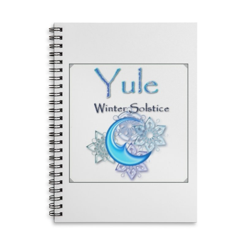 YuleSolstice Accessories Lined Spiral Notebook by The Ways of The Old's Artist Shop