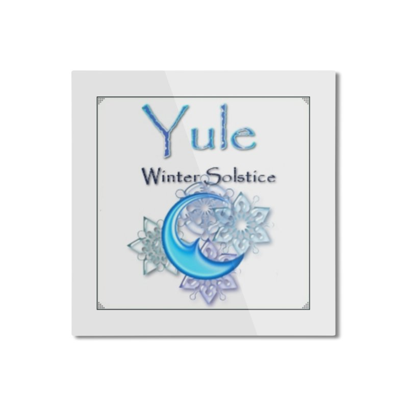 YuleSolstice Home Mounted Aluminum Print by The Ways of The Old's Artist Shop