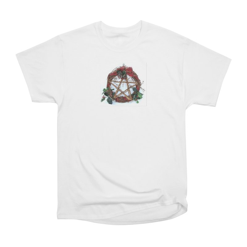 YuleWreath Women's Heavyweight Unisex T-Shirt by The Ways of The Old's Artist Shop