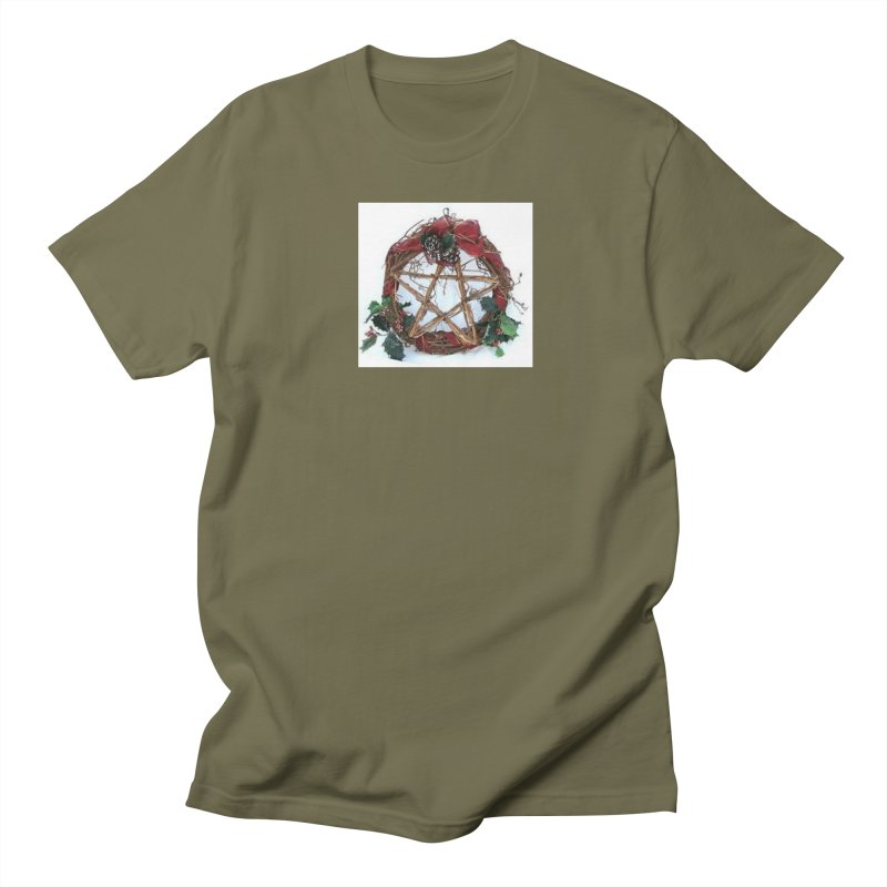 YuleWreath Men's Regular T-Shirt by The Ways of The Old's Artist Shop