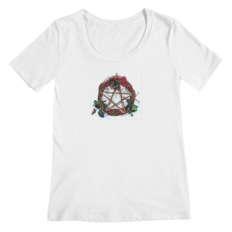 YuleWreath Women's Regular Scoop Neck by The Ways of The Old's Artist Shop