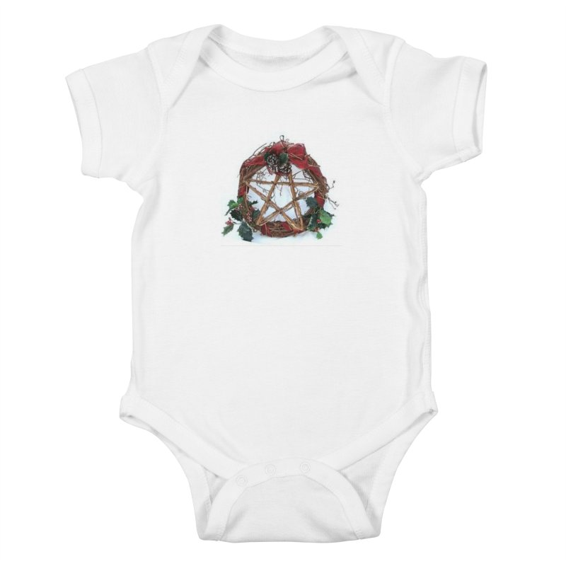 YuleWreath Kids Baby Bodysuit by The Ways of The Old's Artist Shop