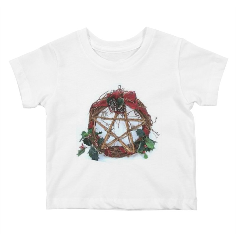 YuleWreath Kids Baby T-Shirt by The Ways of The Old's Artist Shop