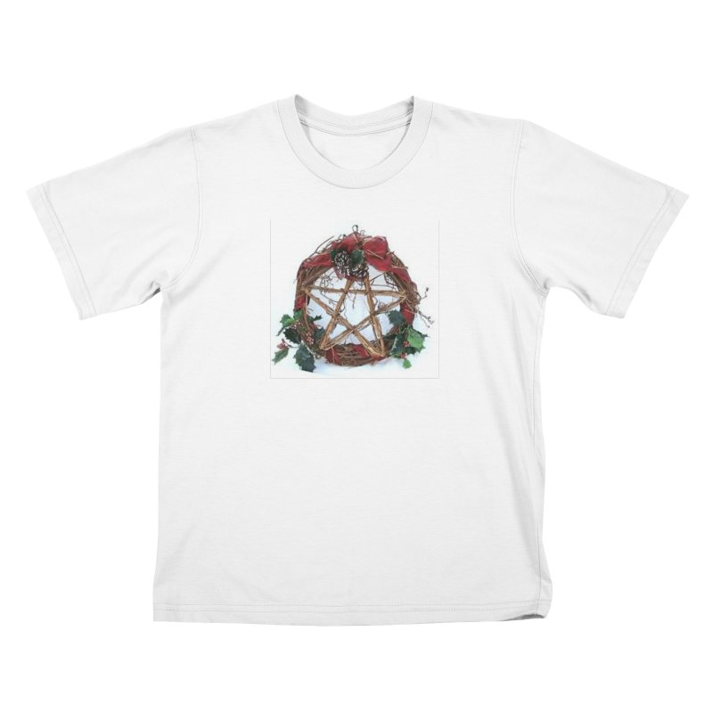 YuleWreath Kids T-Shirt by The Ways of The Old's Artist Shop