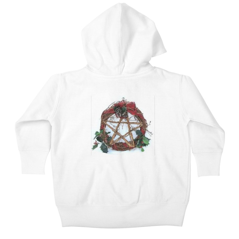 YuleWreath Kids Baby Zip-Up Hoody by The Ways of The Old's Artist Shop