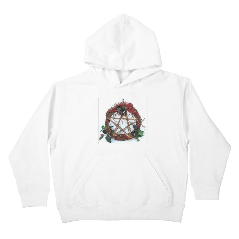 YuleWreath Kids Pullover Hoody by The Ways of The Old's Artist Shop