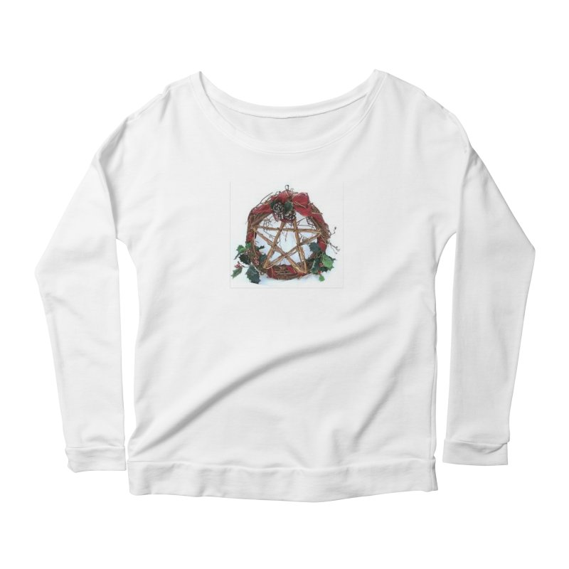 YuleWreath Women's Scoop Neck Longsleeve T-Shirt by The Ways of The Old's Artist Shop
