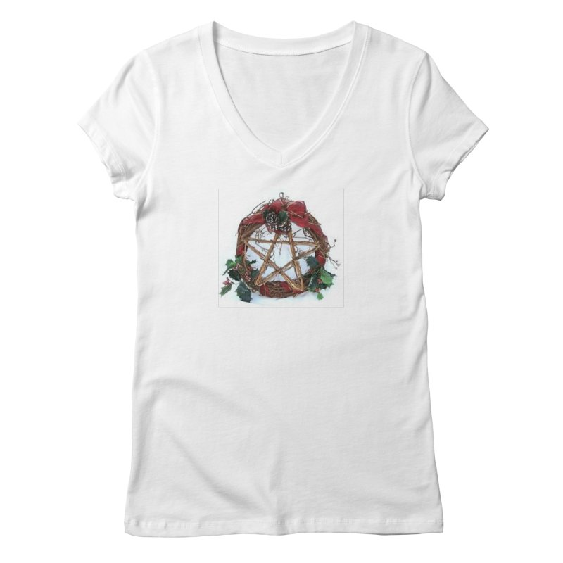 YuleWreath Women's Regular V-Neck by The Ways of The Old's Artist Shop