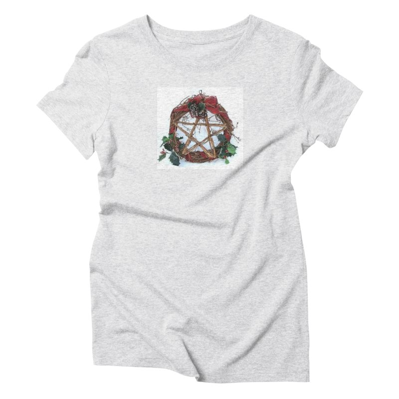 YuleWreath Women's Triblend T-Shirt by The Ways of The Old's Artist Shop