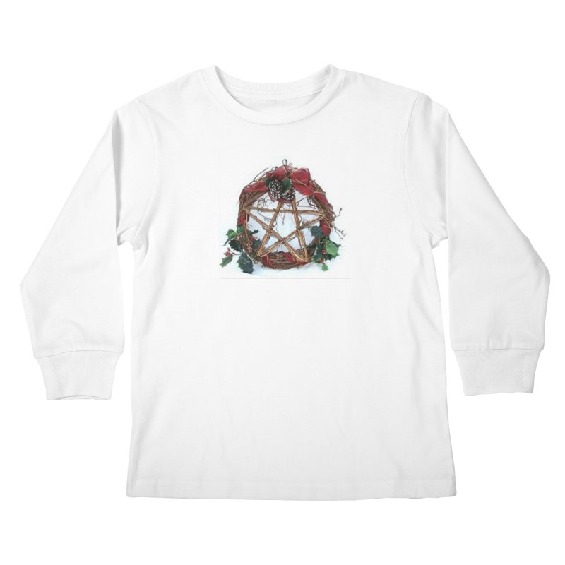 YuleWreath Kids Longsleeve T-Shirt by The Ways of The Old's Artist Shop